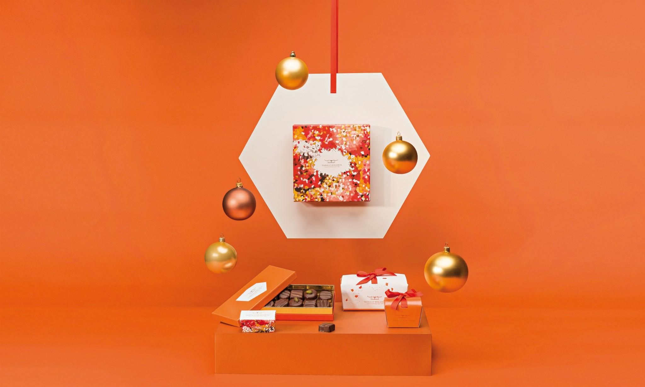 création ambiance en studio boite chocolat