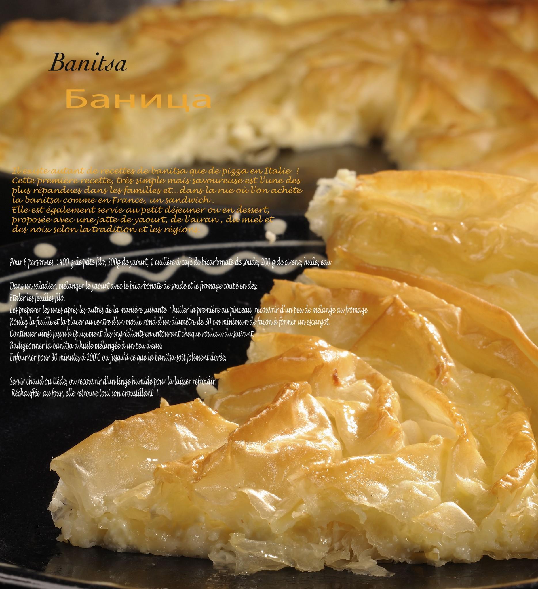 Prise de vue culinaire, recette bulgare de Banitsa.