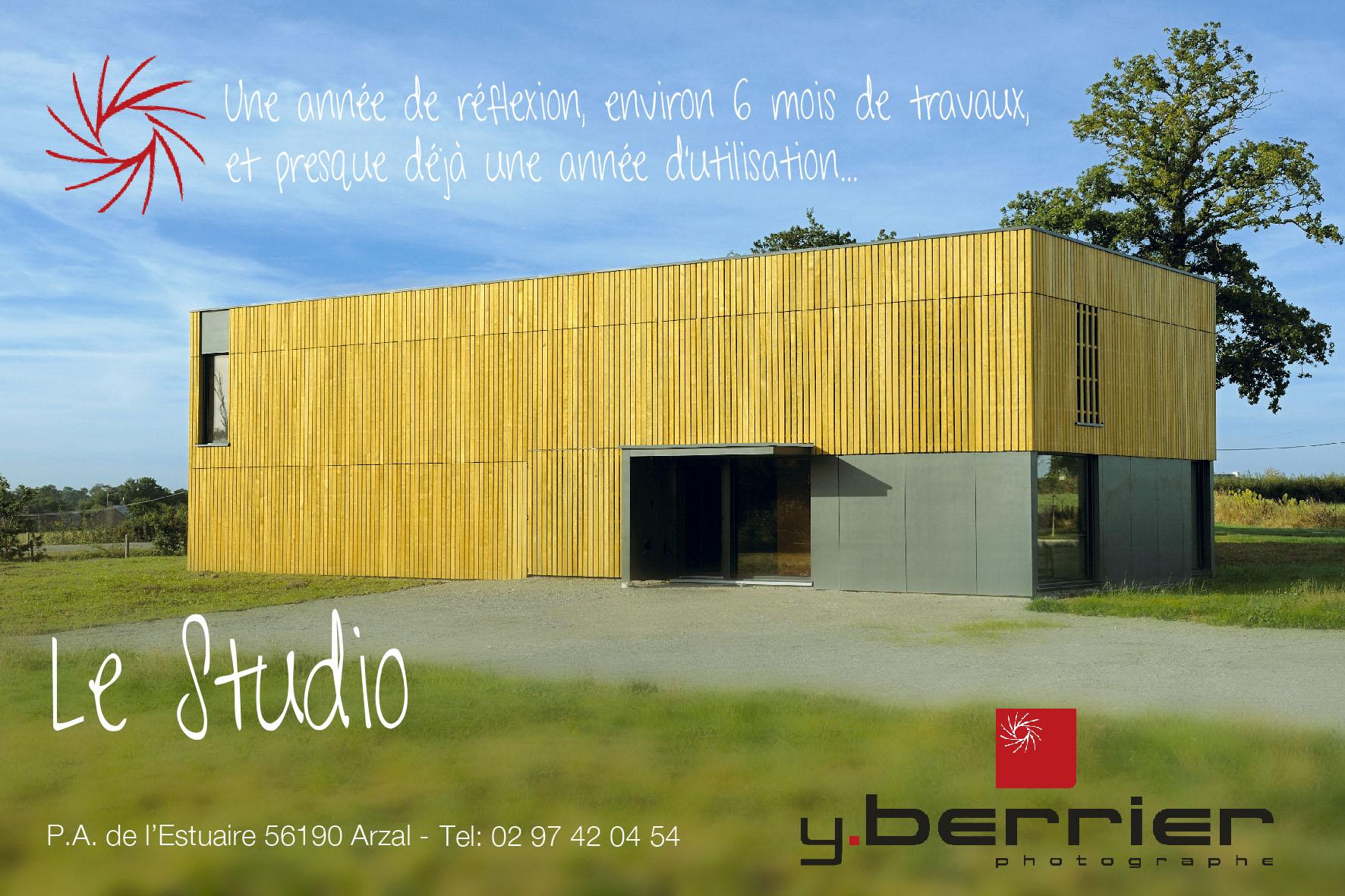 carte d'invitation, exterieur du studio de prise de vue d'Yves Berrier
