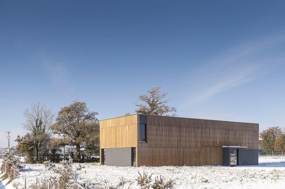 studio de prise de vue d'Yves Berrier sous la neige