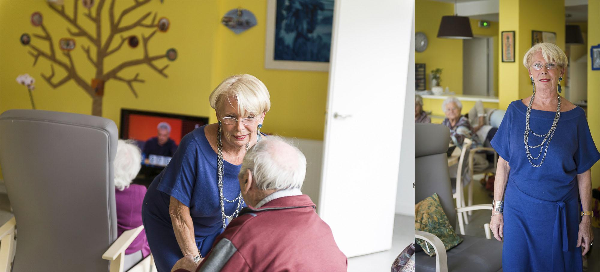 reportage photo, auxiliaire de vie dans un domicile partagé