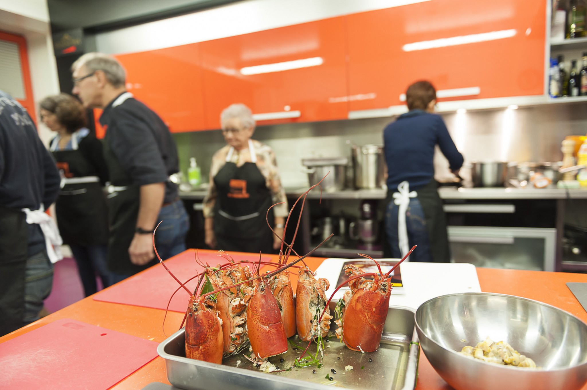 Reportage photo à l'école des desserts, cours de cuisine par Alain Chartier et Bernard Rambaud.