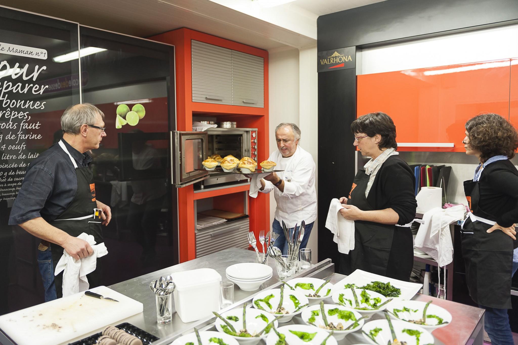 cours de cuisine, Alain Chartier et Bernard Rambaud