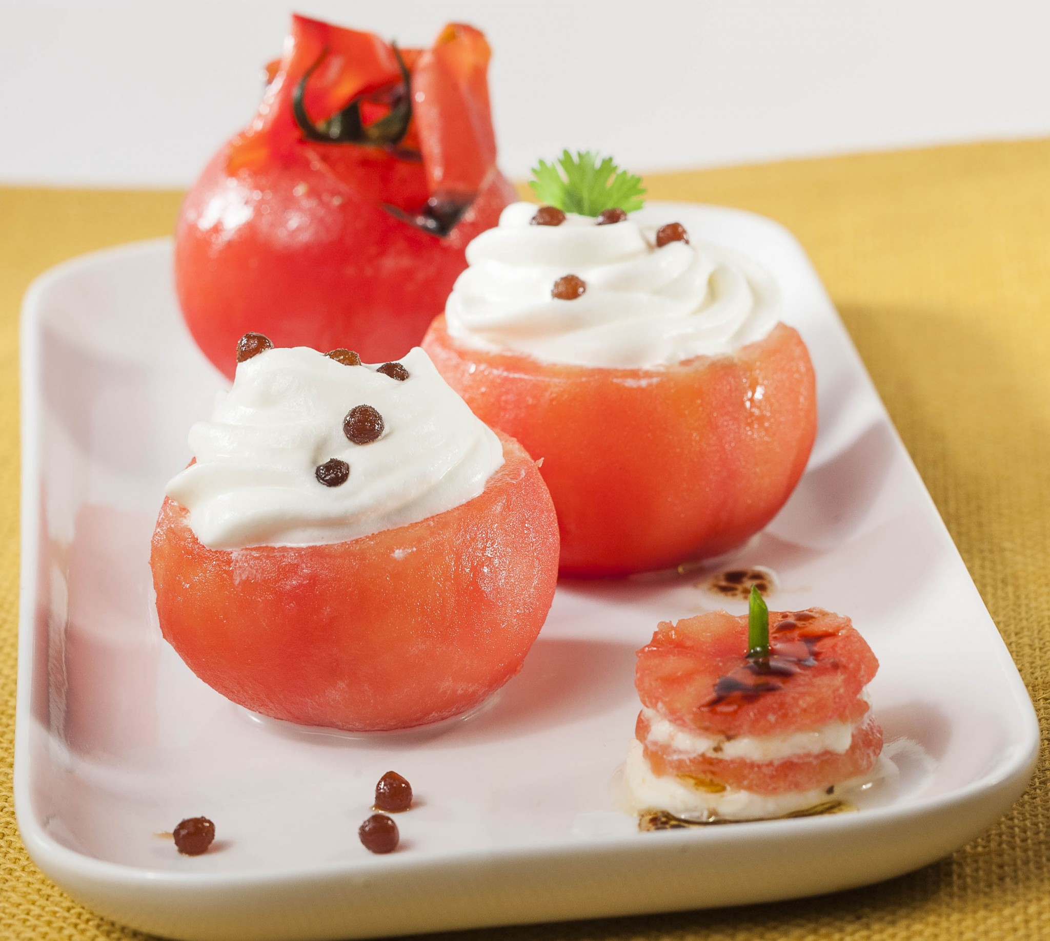 photographie culinaire, tomate farcie