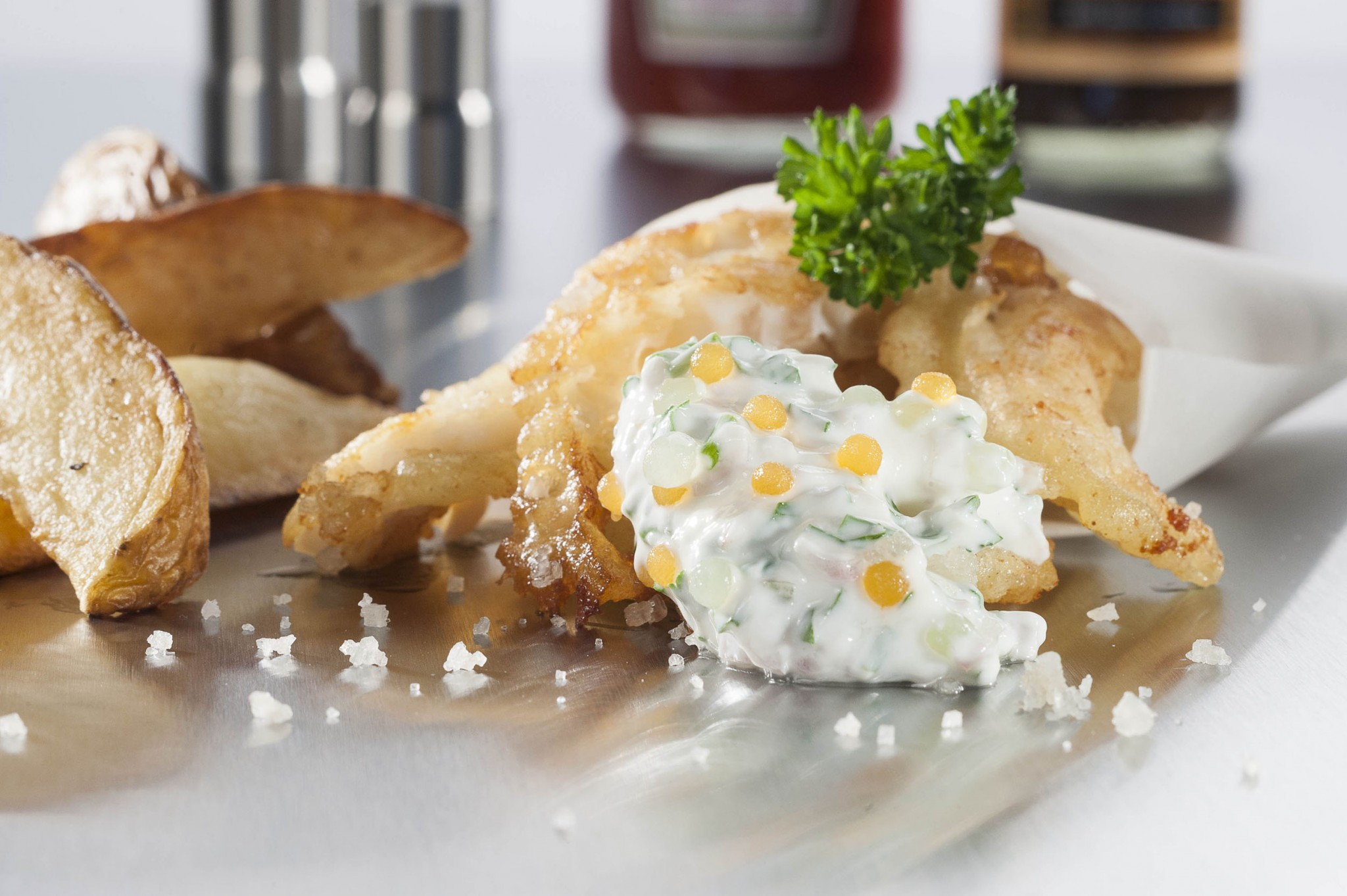 photographie culinaire, fish and ship