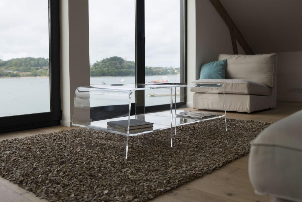 prise de vue ambiance et décoration, table basse David Lange bord de mer